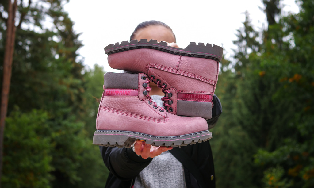 Caterpillar Colorado Pink retrokicks