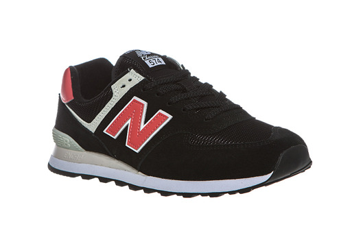 Czarne  Sneakersy New Balance ML574SMP Black /Red
