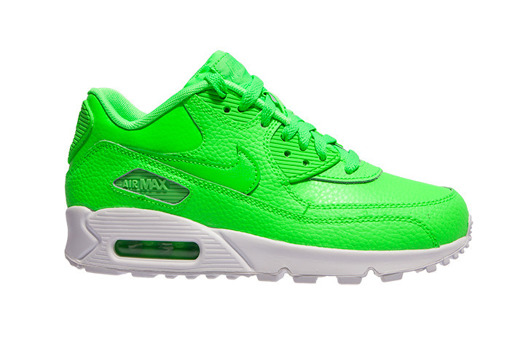 "Nike Air Max 90 Leather (GS) ""Voltage Green"" (724821-300)"