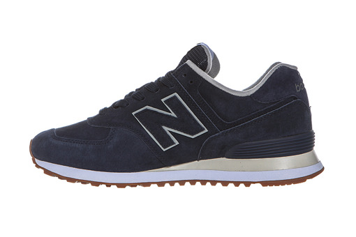 Szare  Sneakersy New Balance ML574EPA NavyBlue